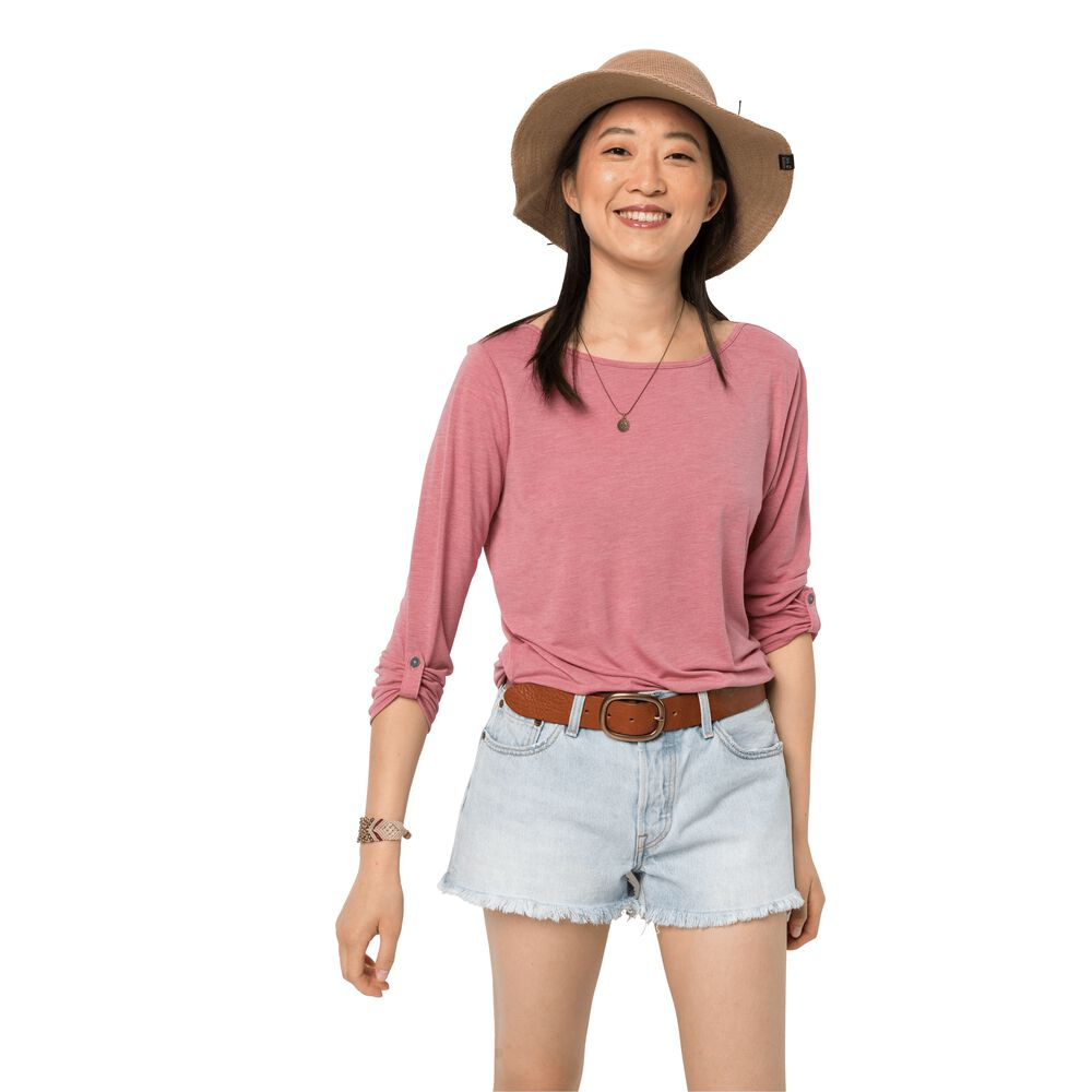 Image of Jack Wolfskin 3/4 Shirt Frauen Coral Coast 3/4 T-Shirt Women XXL rot rose quartz