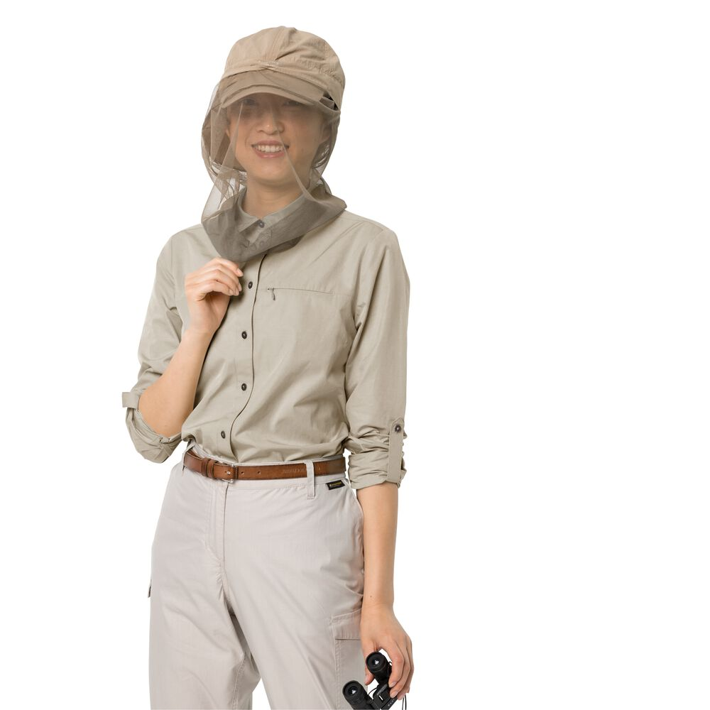 Image of Jack Wolfskin Bluse Frauen Lakeside Roll-up Shirt Women XL grau dusty grey