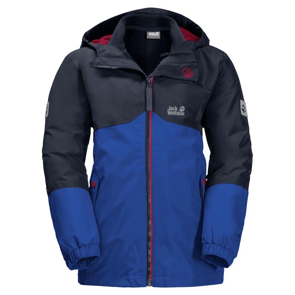 Image of Jack Wolfskin 3-in-1 Hardshell-Jacke Jungen Boys Iceland 3in1 Jacket 116 blau active blue