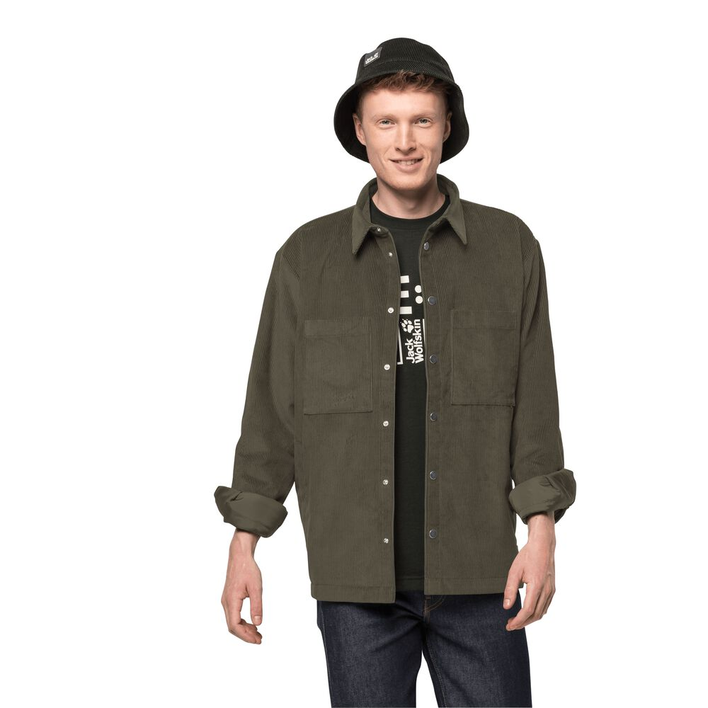 Image of Jack Wolfskin Cordjacke im Hemdstil Männer Nature Shield Jacket Men L grün bonsai green