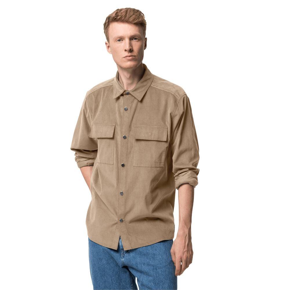Image of Jack Wolfskin Cordhemd aus Bio-Baumwolle Männer Nature Shirt Men L braun beige