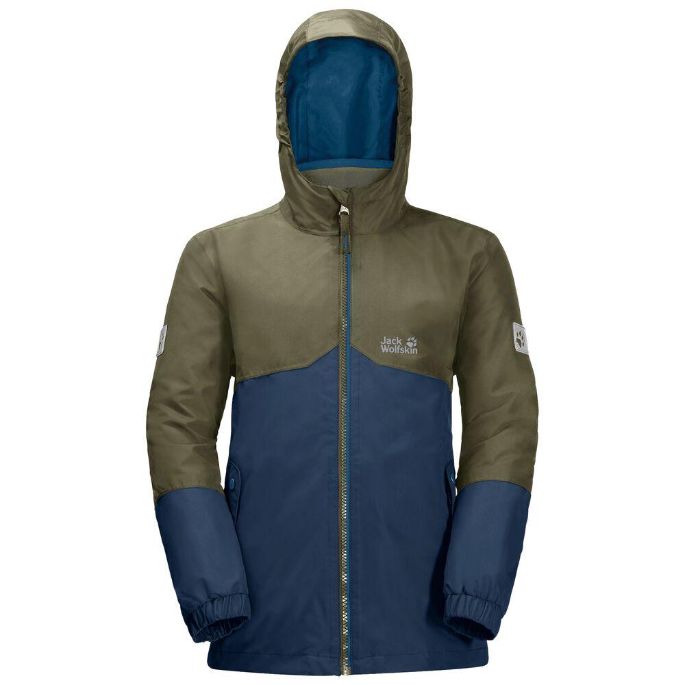 Image of Jack Wolfskin 3-in-1 Hardshell Jungen Boys Iceland 3in1 Jacket 164 blau dark indigo