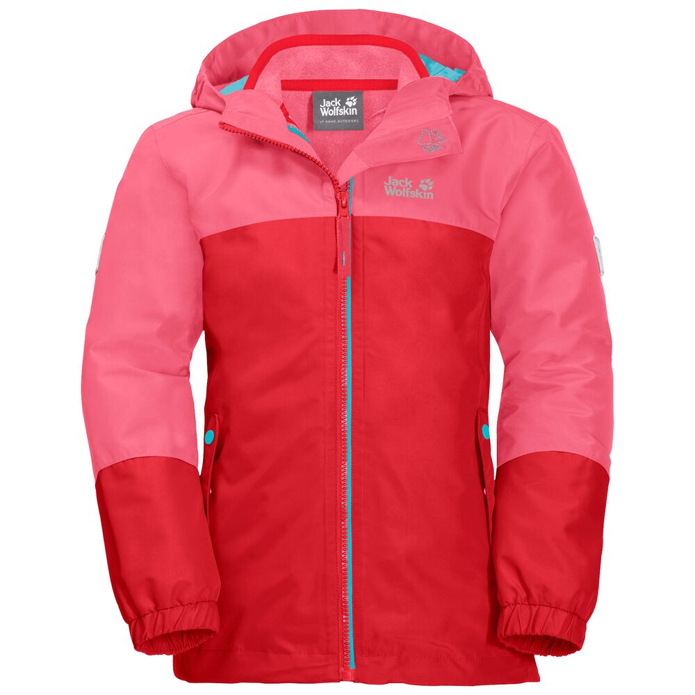 Image of Jack Wolfskin 3-in-1 Hardshell Mädchen Girls Iceland 3in1 Jacket 128 rot coral pink