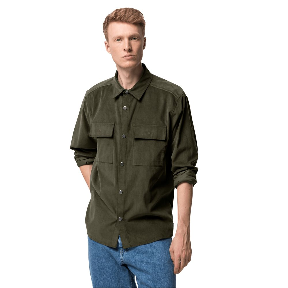 Image of Jack Wolfskin Cordhemd aus Bio-Baumwolle Männer Nature Shirt Men L grün bonsai green