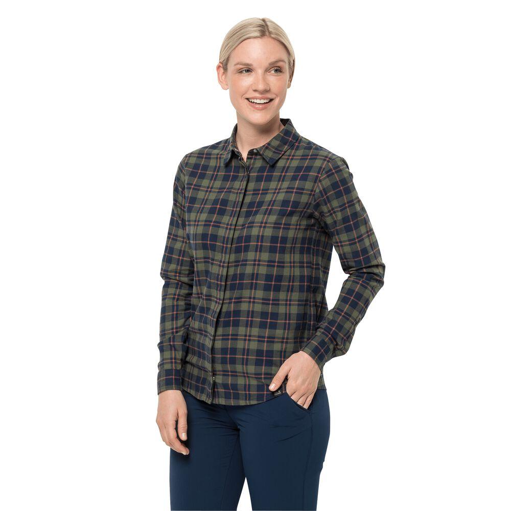 Image of Jack Wolfskin Baumwoll-Flanellhemd Frauen Carson Shirt Women XS dunkelblau midnight blue checks