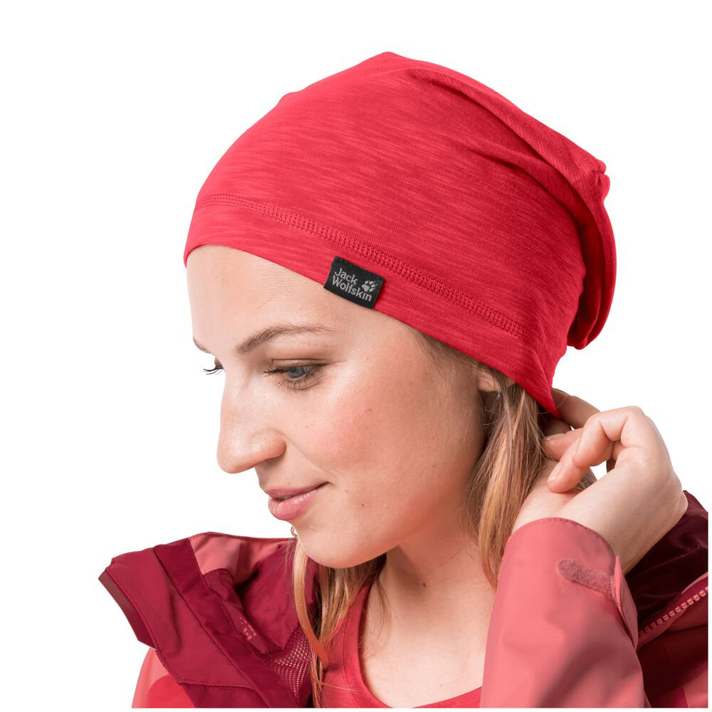 Image of Jack Wolfskin Beanie Travel Beanie one size (55-59CM) rot tulip red