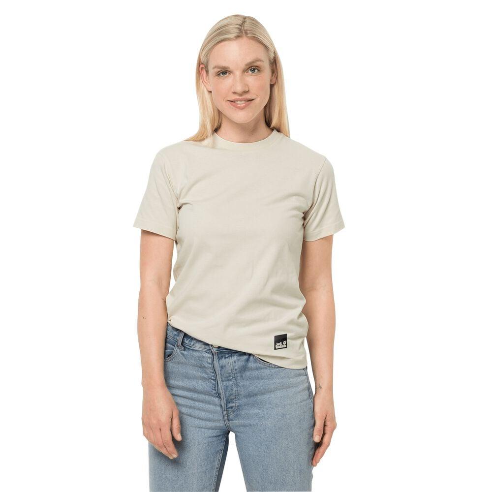 Image of Jack Wolfskin Baumwoll-T-Shirt Frauen 365 T-Shirt Women M weiß white sand