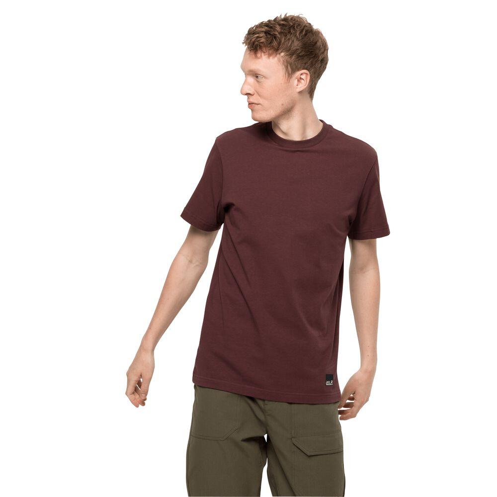 Image of Jack Wolfskin Bio-Baumwoll-T-Shirt Männer 365 T-Shirt Men M cordovan red cordovan red