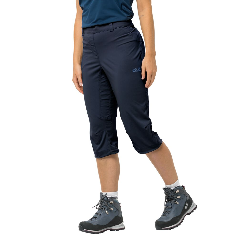 Image of Jack Wolfskin 3/4 Softshellhose Frauen Activate Light 3/4 Pants 40 blau midnight blue