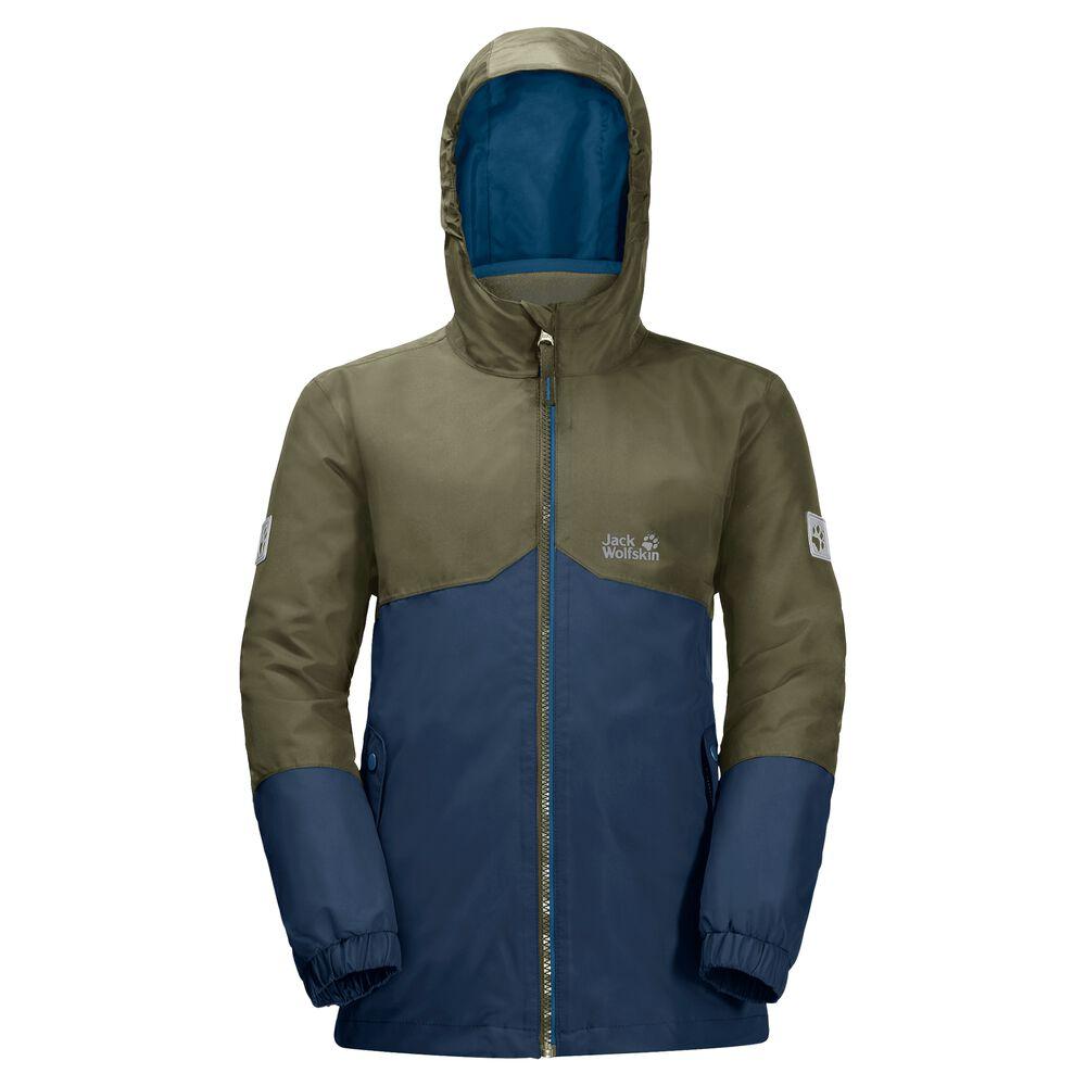 Image of Jack Wolfskin 3-in-1 Hardshell-Jacke Jungen Boys Iceland 3in1 Jacket 128 blau dark indigo