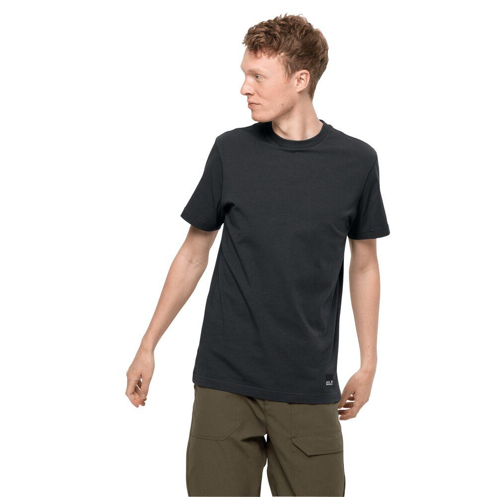 Image of Jack Wolfskin Bio-Baumwoll-T-Shirt Männer 365 T-Shirt Men L phantom phantom