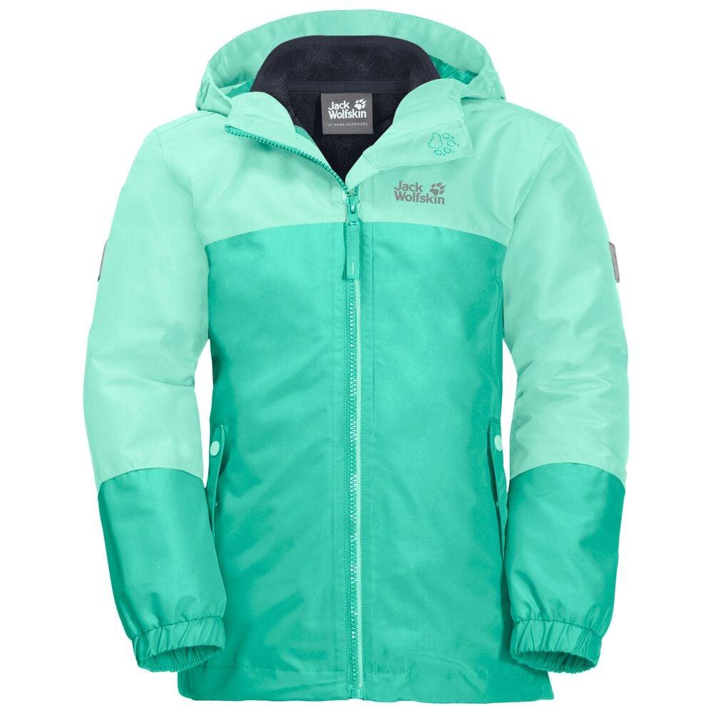 Image of Jack Wolfskin 3-in-1 Hardshell Mädchen Girls Iceland 3in1 Jacket 116 grün electric green