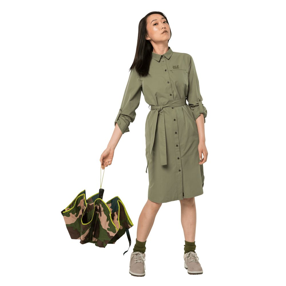 Image of Jack Wolfskin Blusenkleid Frauen Lakeside Dress L grün khaki
