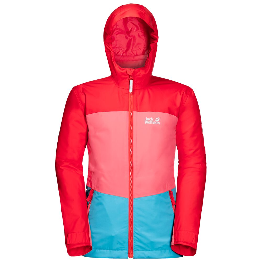 Image of Jack Wolfskin 3-in-1 Hardshell Kinder Argon Ice 3in1 Jacket Kids 128 blau atoll blue