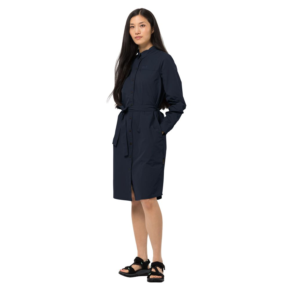 Image of Jack Wolfskin Blusenkleid Frauen Lakeside Dress M blau midnight blue