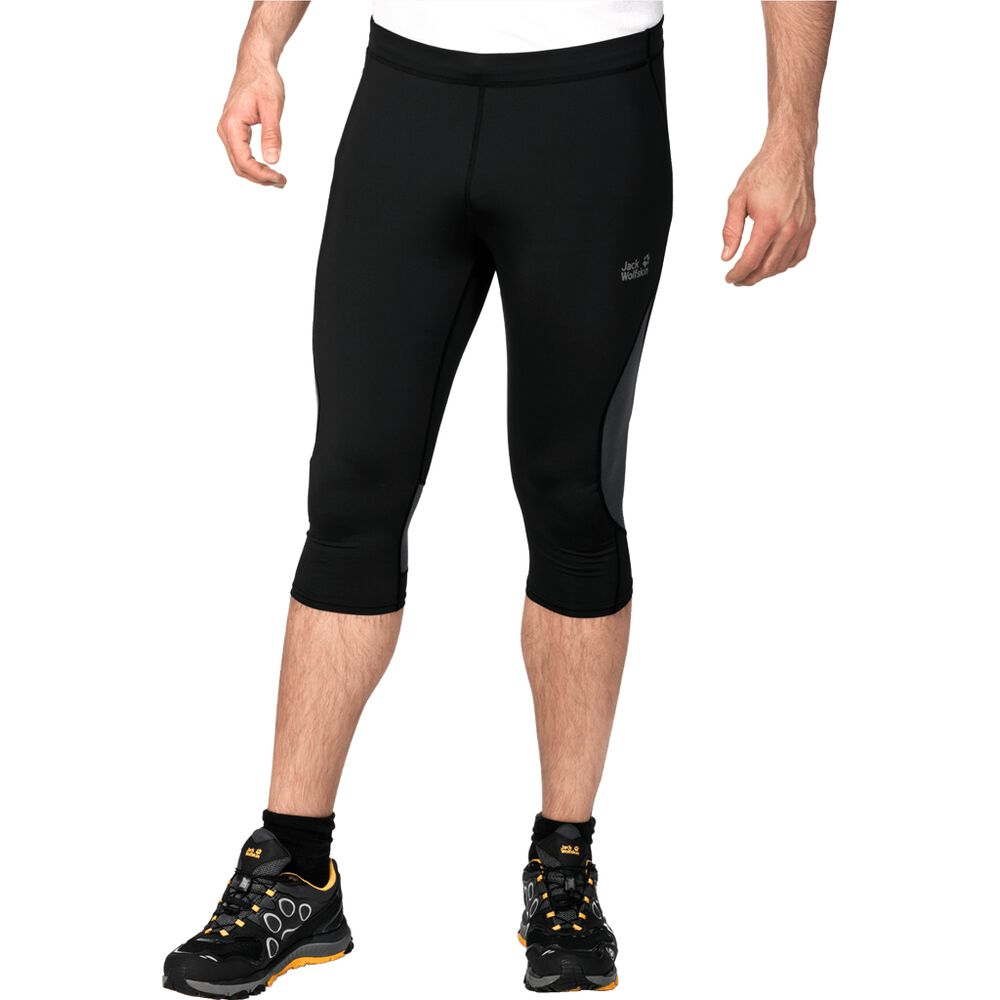 Image of Jack Wolfskin 3/4 Laufhose Männer Passion Trail 3/4 Tights Men 48 schwarz black