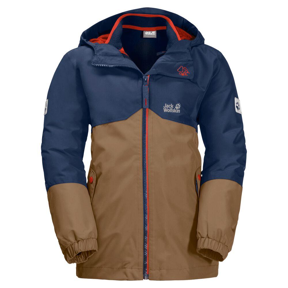 Image of Jack Wolfskin 3-in-1 Hardshell-Jacke Jungen Boys Iceland 3in1 Jacket 128 braun walnut brown
