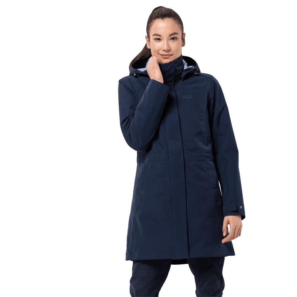 Image of Jack Wolfskin 3-in-1 Hardshell-Mantel Frauen Ottawa Coat XS blau midnight blue
