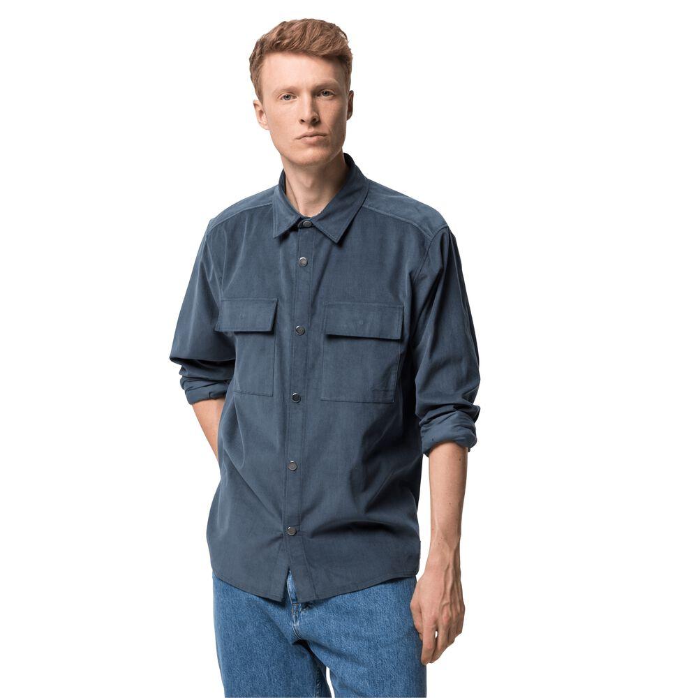 Image of Jack Wolfskin Cordhemd aus Bio-Baumwolle Männer Nature Shirt Men L grau dark slate