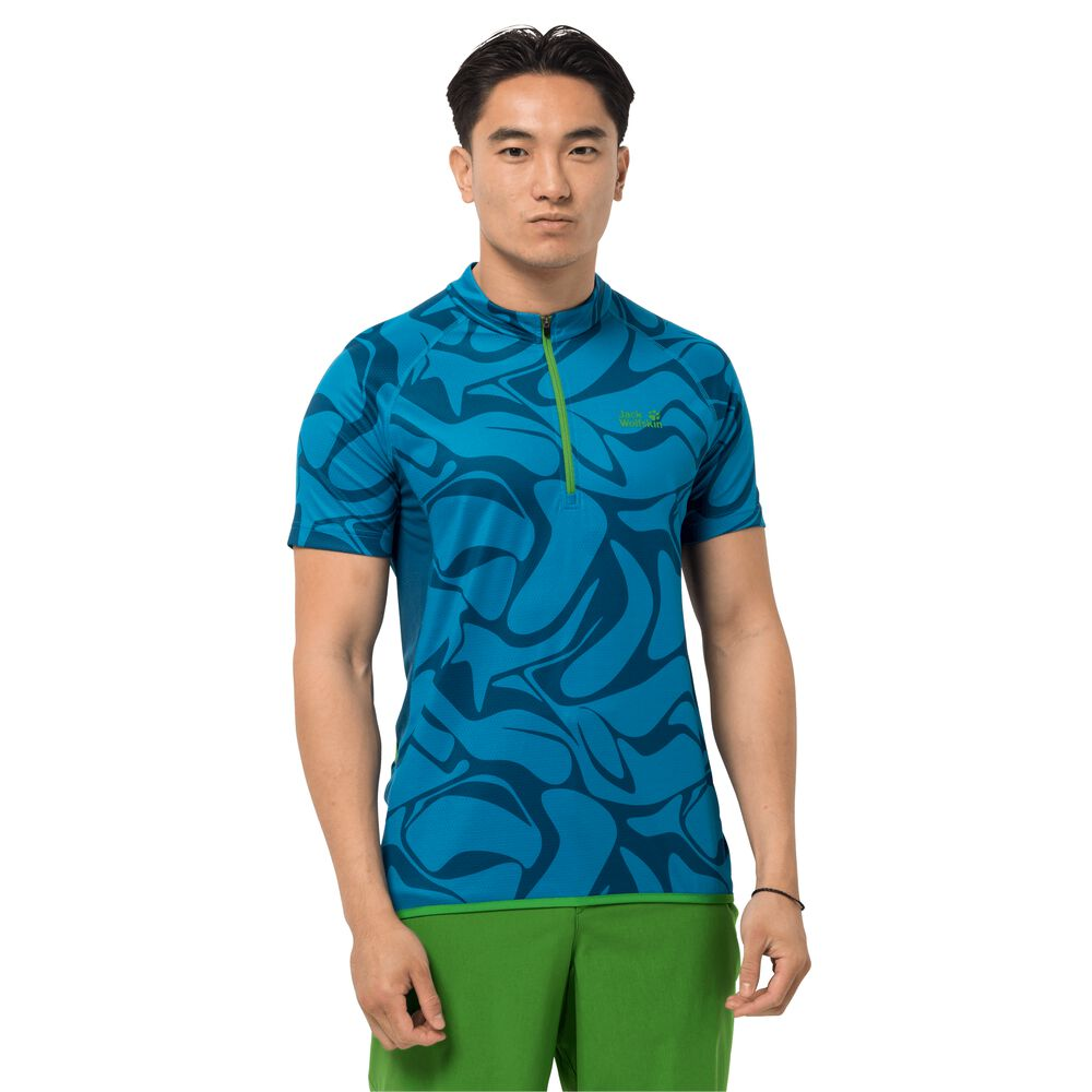 Image of Jack Wolfskin Fahrrad-Funktionsshirt Männer Gradient T-Shirt Men L blau blue jewel all over
