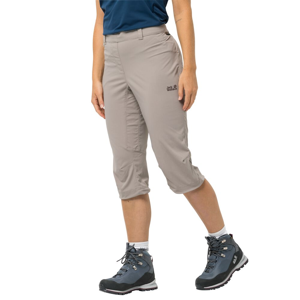 Image of Jack Wolfskin 3/4 Softshellhose Frauen Activate Light 3/4 Pants 34 grau moon rock