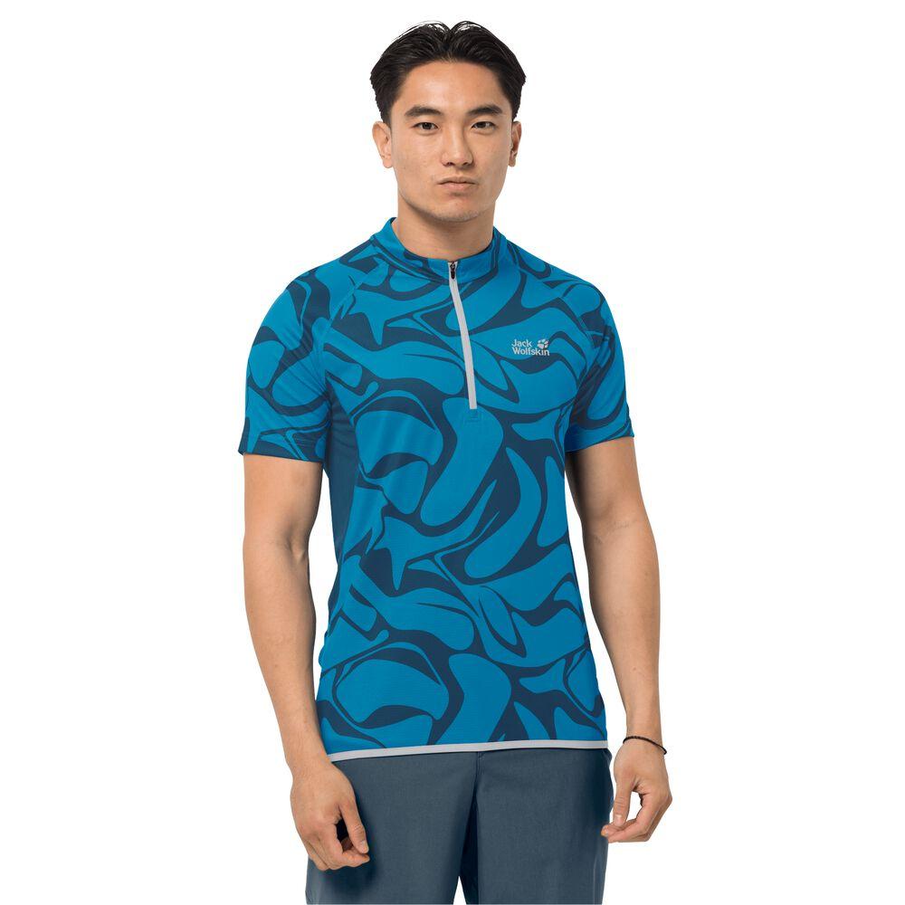 Image of Jack Wolfskin Fahrrad-Funktionsshirt Männer Gradient T-Shirt Men L blue pacific all over blue pacific all over