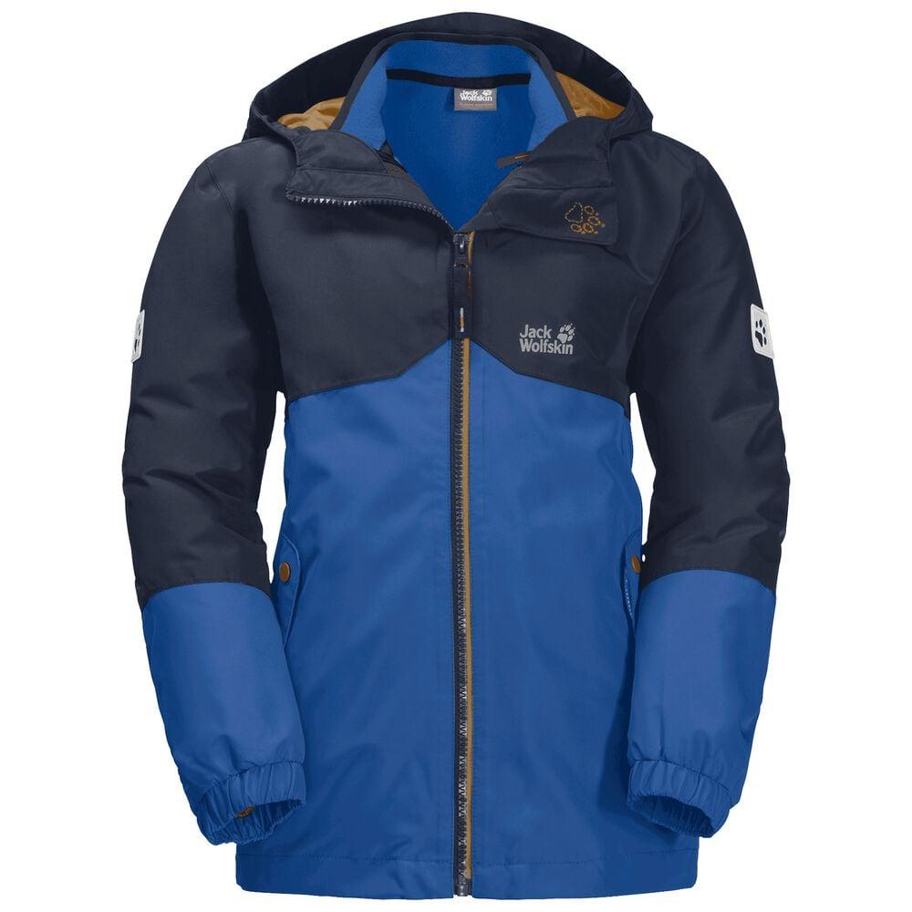 Image of Jack Wolfskin 3-in-1 Hardshell Jungen Boys Iceland 3in1 Jacket 140 blau coastal blue