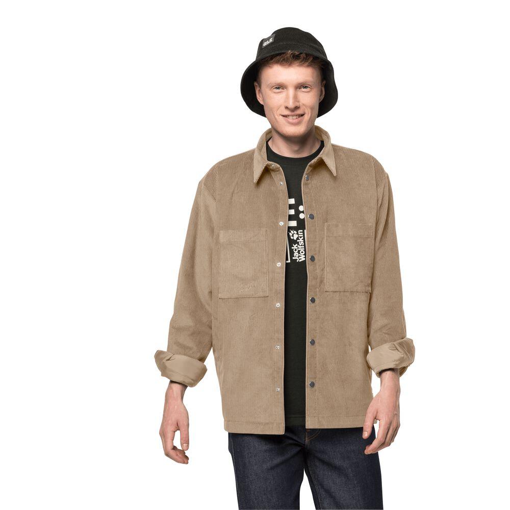 Image of Jack Wolfskin Cordjacke im Hemdstil Männer Nature Shield Jacket Men 3XL braun beige