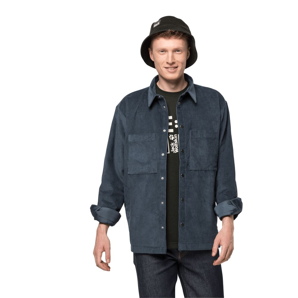 Image of Jack Wolfskin Cordjacke im Hemdstil Männer Nature Shield Jacket Men M grau dark slate