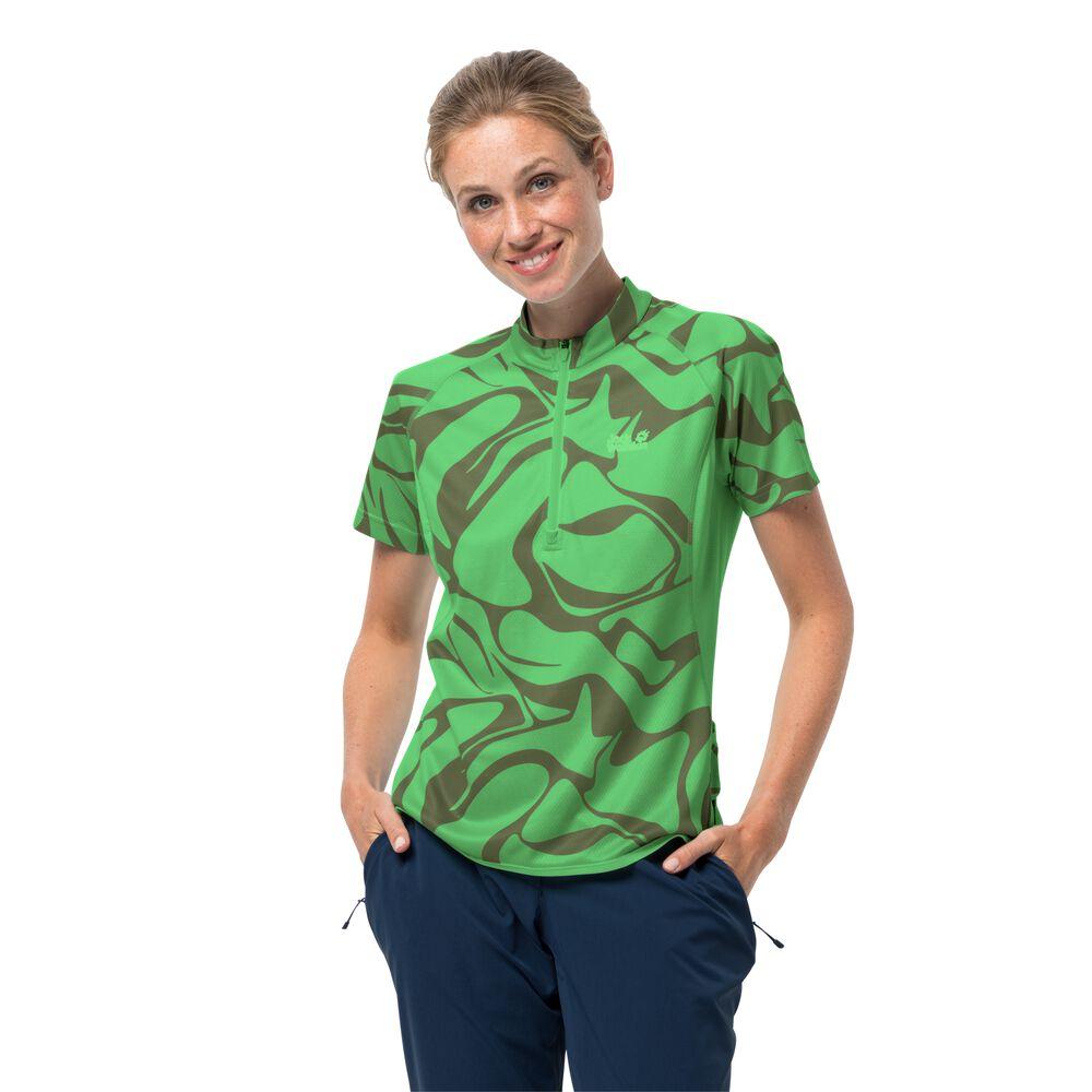 Image of Jack Wolfskin Fahrrad-Funktionsshirt Frauen Gradient T-Shirt Women L grün summer green all over
