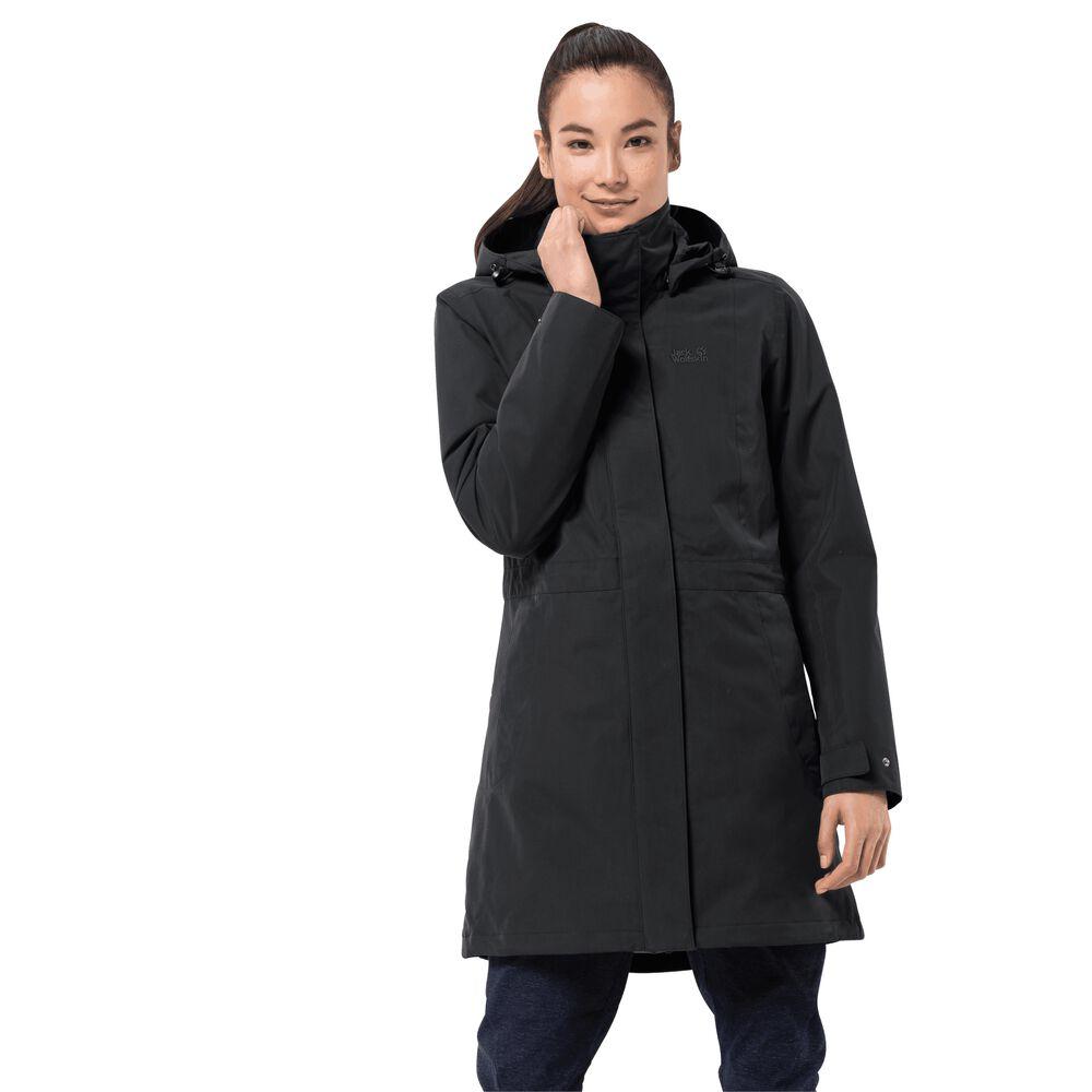Image of Jack Wolfskin 3-in-1 Hardshell-Mantel Frauen Ottawa Coat XS schwarz black