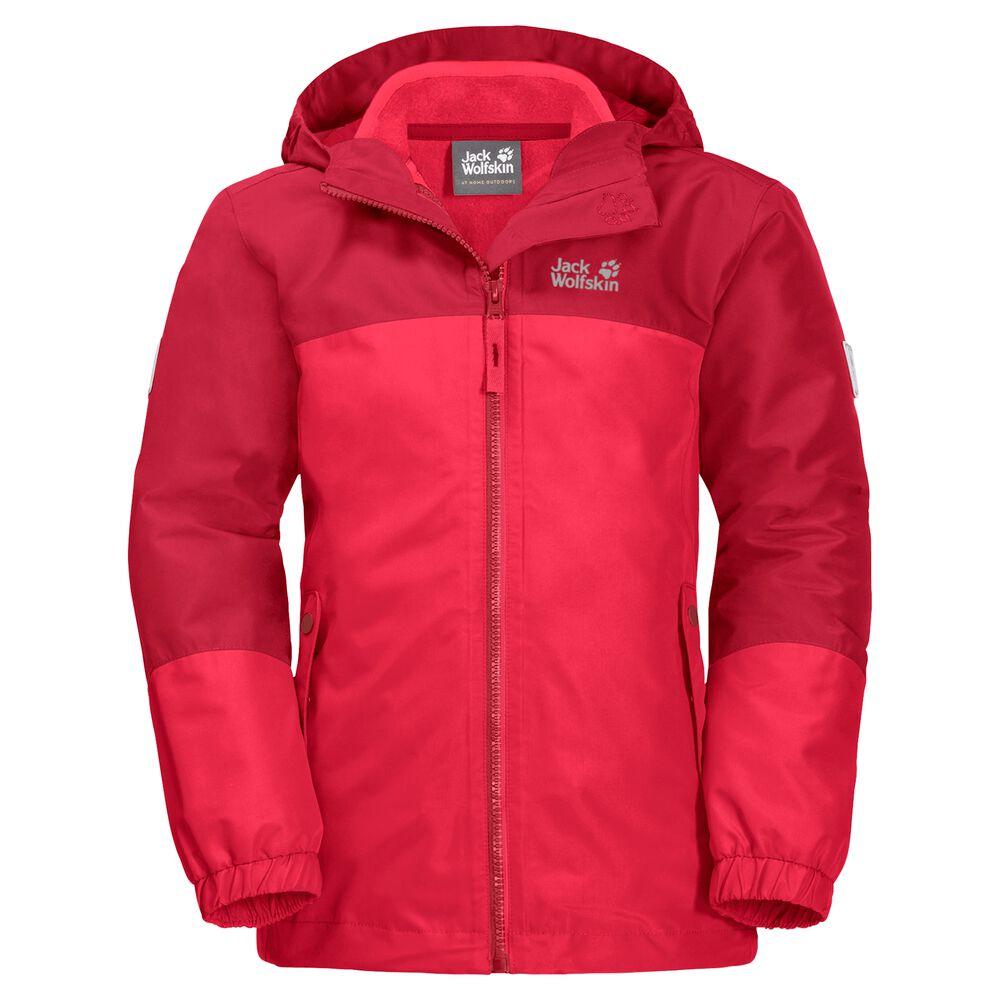Image of Jack Wolfskin 3-in-1 Hardshell-Jacke Mädchen Girls Iceland 3in1 Jacket 104 rot tulip red