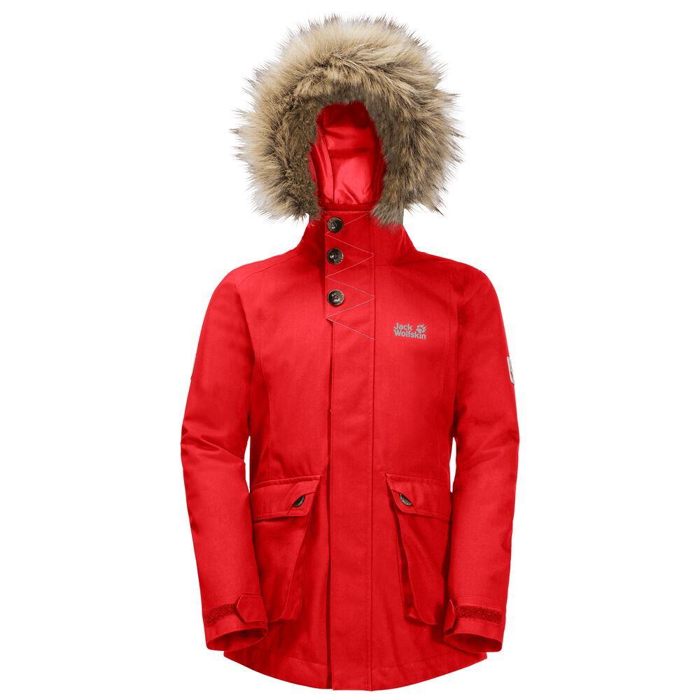 Image of Jack Wolfskin 3-in-1 Hardshellparka Mädchen Girls ELK Island 3in1 Parka 104 rot fiery red
