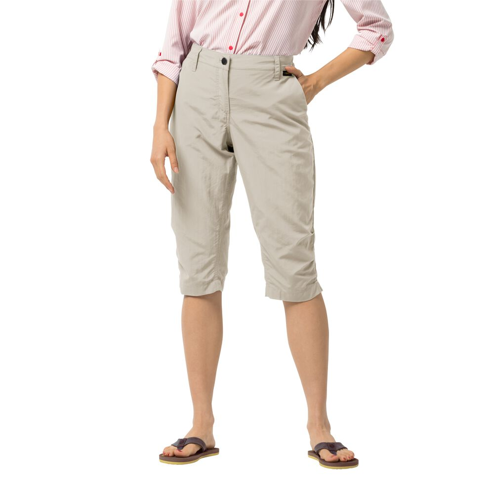 Image of Jack Wolfskin 3/4 Freizeithose Frauen Kalahari 3/4 Pants Women 44 grau light sand