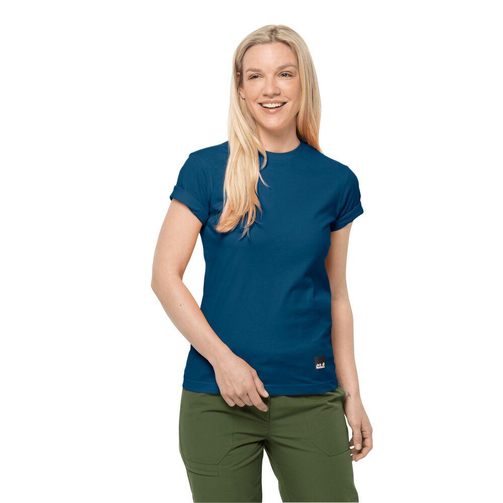 Image of Jack Wolfskin Baumwoll-T-Shirt Frauen 365 T-Shirt Women M blau poseidon blue