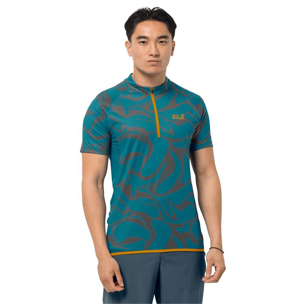 Image of Jack Wolfskin Fahrrad-Funktionsshirt Männer Gradient T-Shirt Men S baltic blue allover baltic blue allover