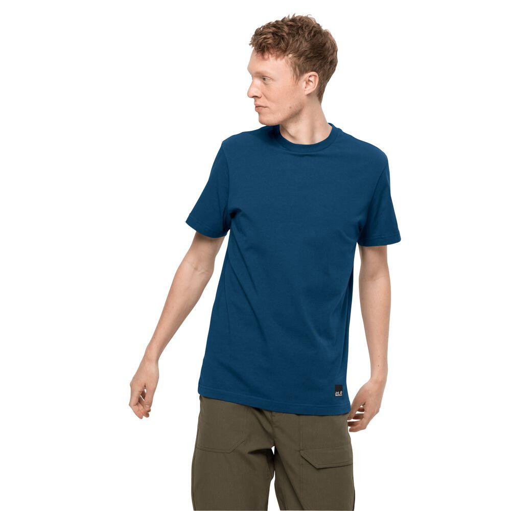 Image of Jack Wolfskin Bio-Baumwoll-T-Shirt Männer 365 T-Shirt Men L blau poseidon blue