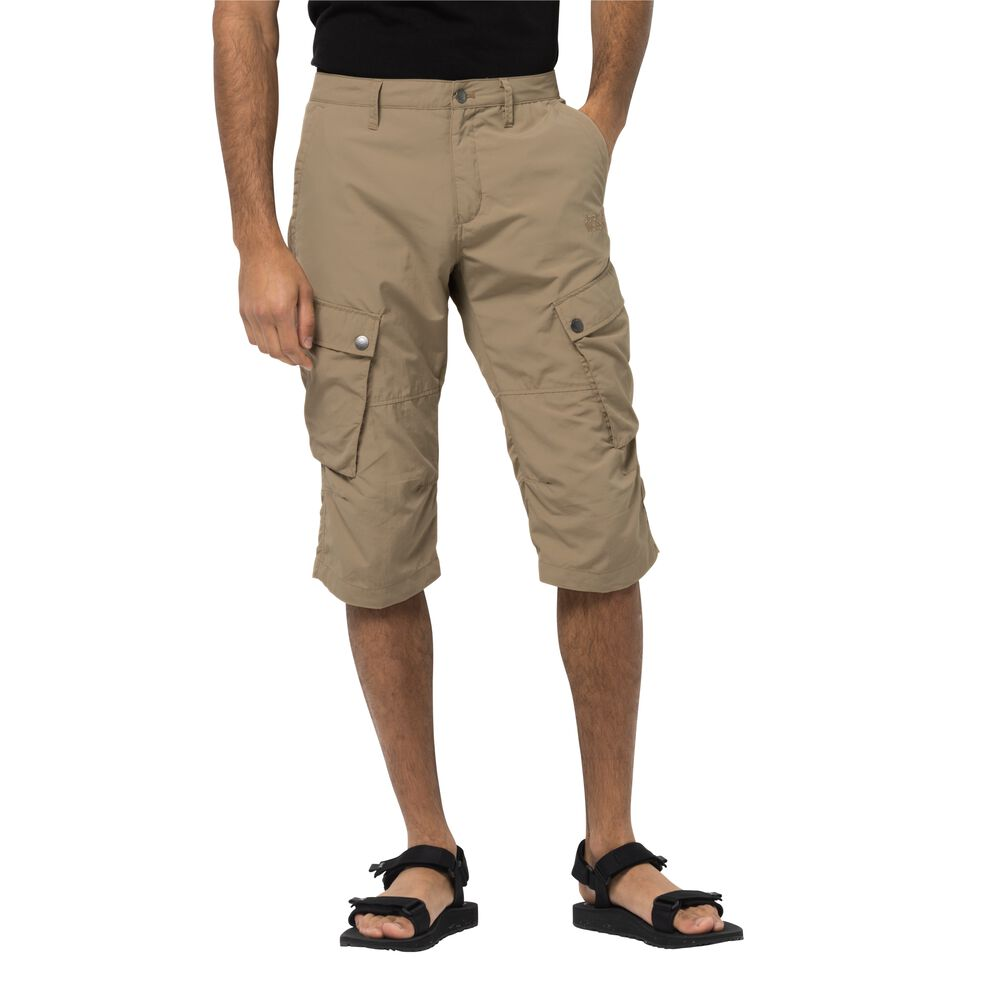 Image of Jack Wolfskin 3/4 Freizeithose Männer Desert Valley 3/4 Pants Men 46 braun sand dune