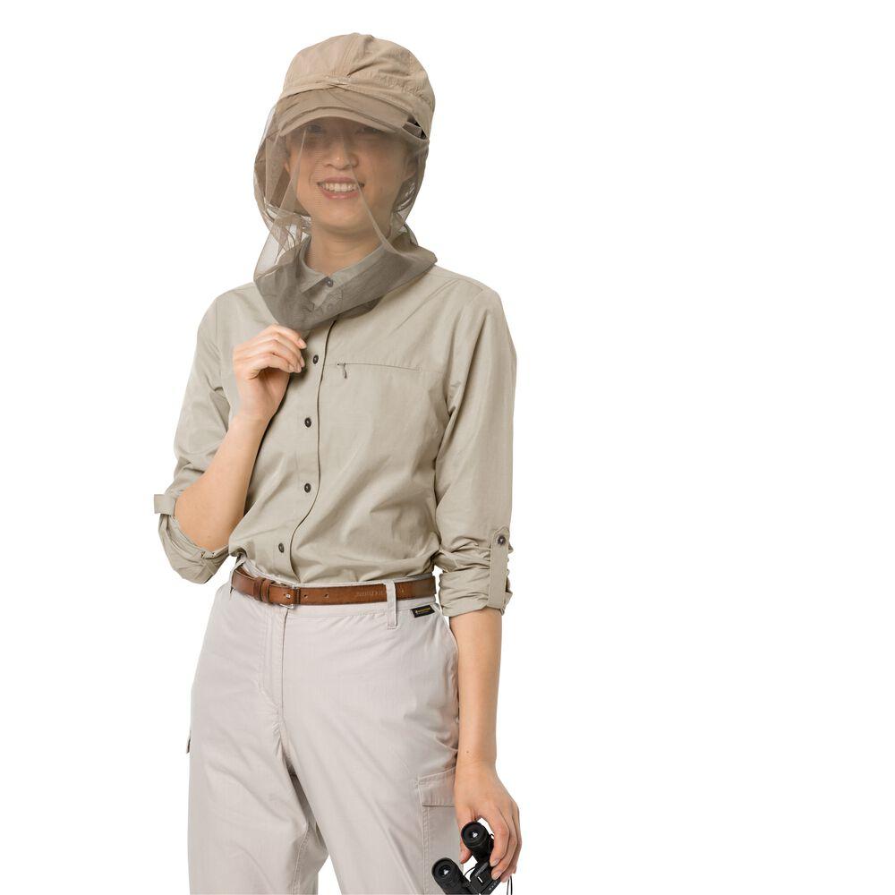 Image of Jack Wolfskin Bluse Frauen Lakeside Roll-up Shirt Women M braun dusty grey