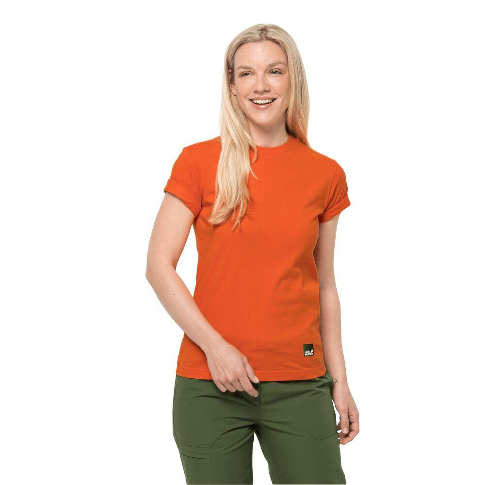 Image of Jack Wolfskin Baumwoll-T-Shirt Frauen 365 T-Shirt Women L orange volcano orange